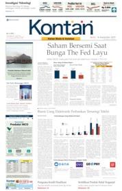 Cover Koran Kontan 16 September 2019