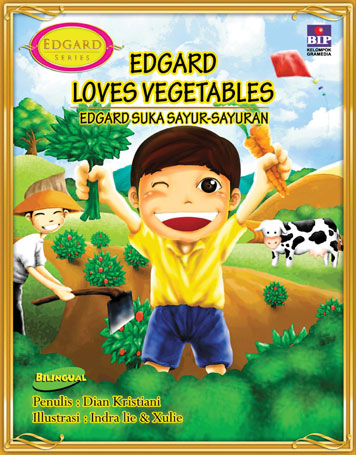 EDGARD LOVES VEGETABLES by Cover