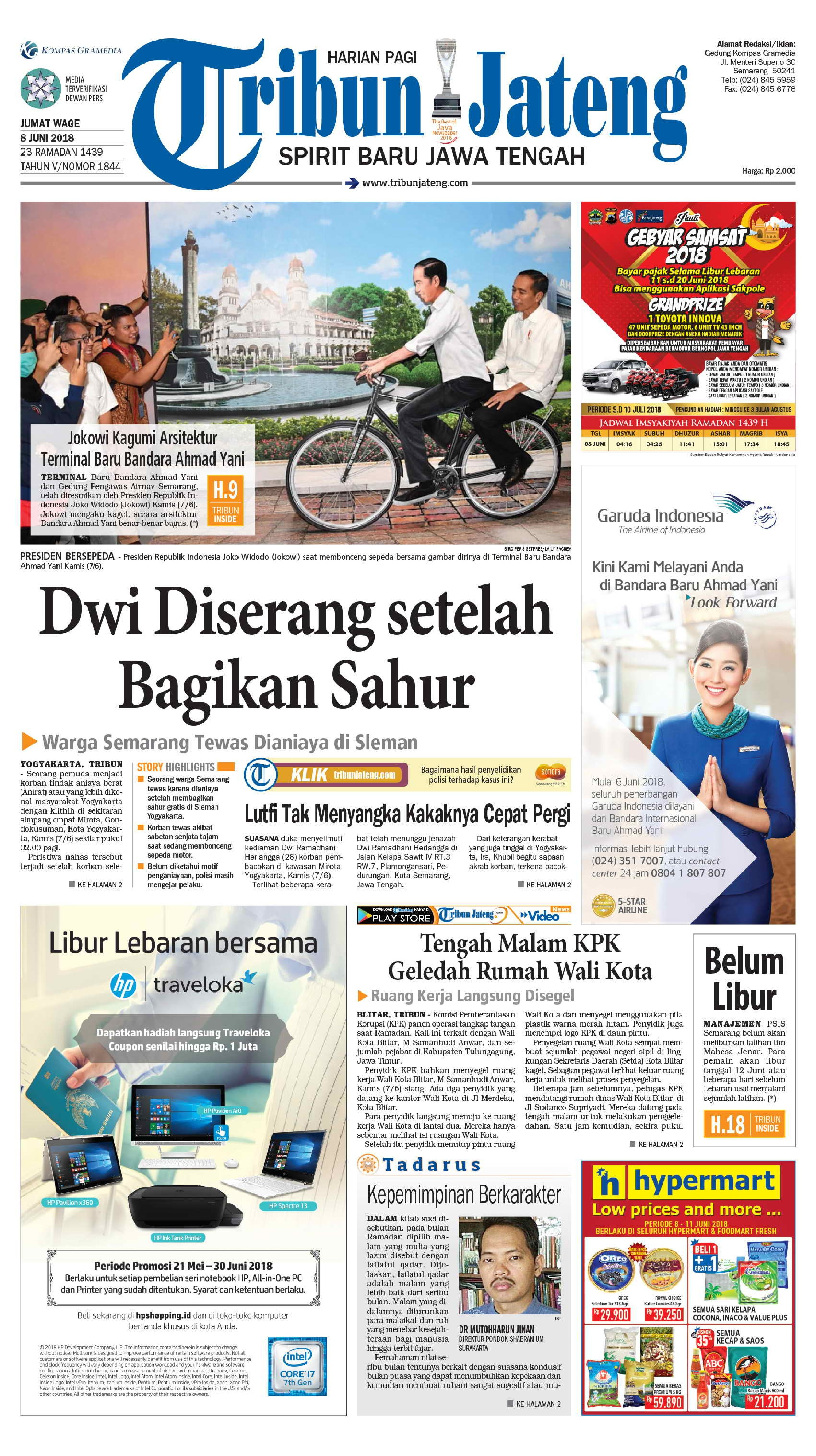 Tribun Jateng Newspaper 08 June 2018 Gramedia Digital Bango Kecap Manis 600ml Publication Can Only Be Read On E Reader