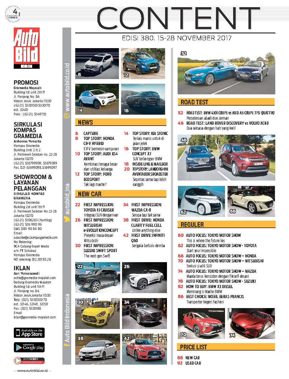 Auto Bild Magazine ED 380 November 2017 - Gramedia Digital