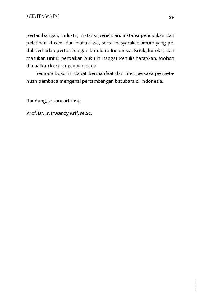 Jual Buku Batubara Indonesia oleh Prof  Dr  Ir  Irwandy Arif
