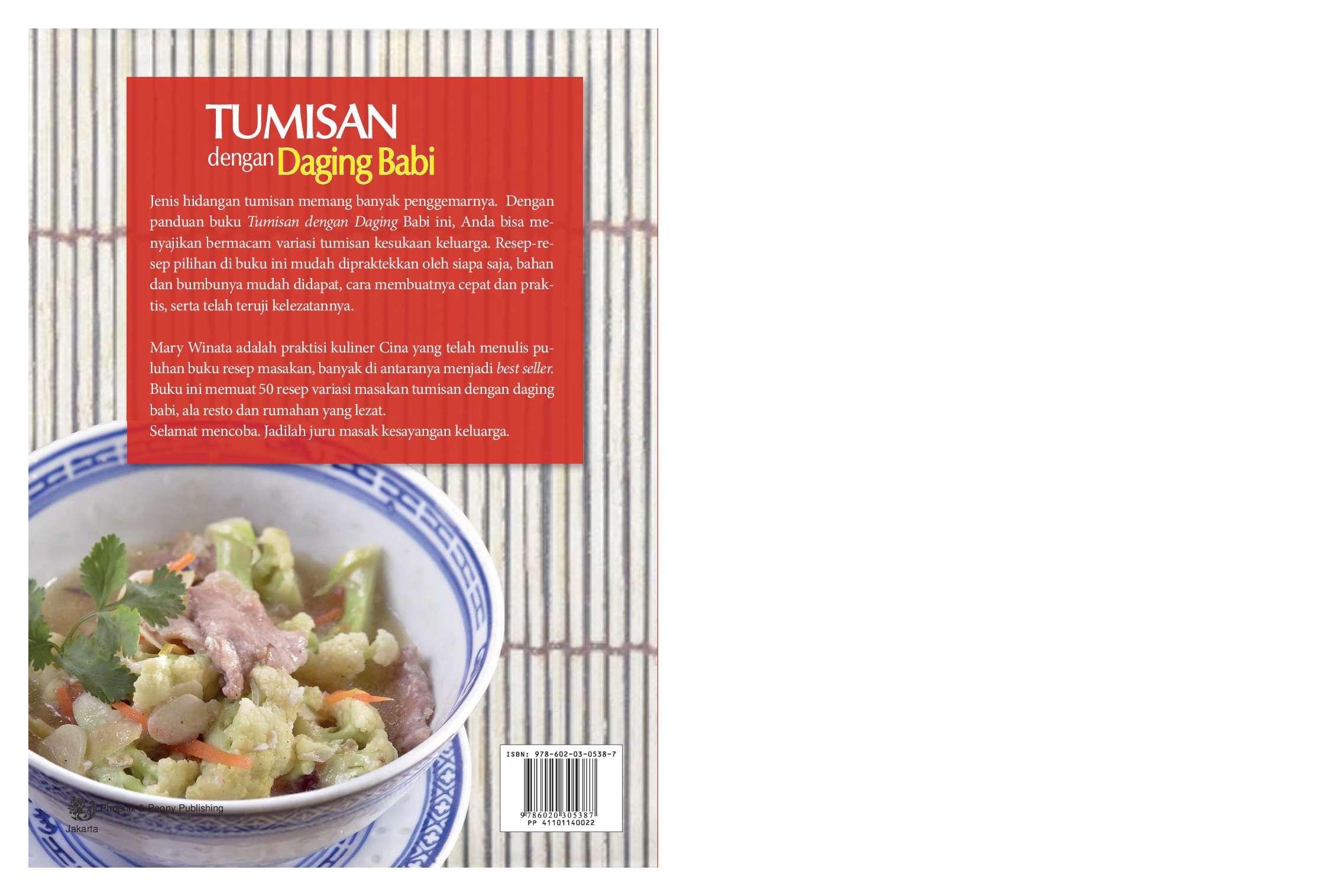 Jual Buku Tumisan Dengan Daging Babi Oleh Mary Winata Gramedia
