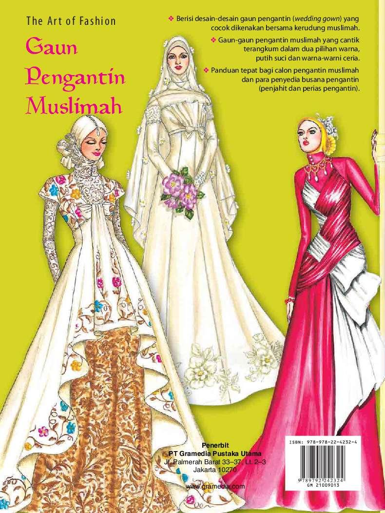The Art Of Fashion Gaun Pengantin Muslimah Book By Sanny Poespo