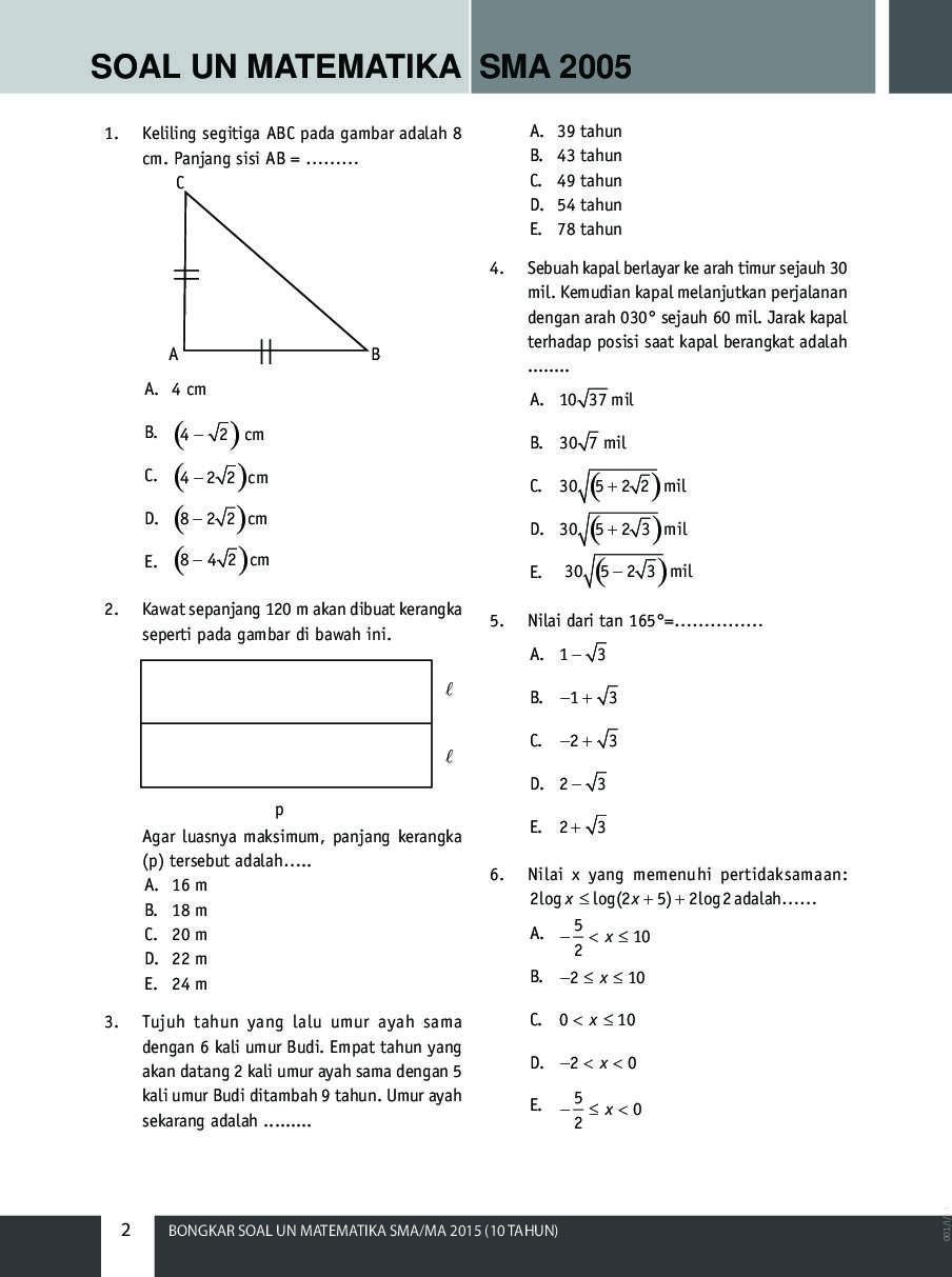 Jual Buku Bongkar Soal Un Matematika Sma Ma 2015 10 Tahun Oleh Sienta Sasika Novel Gramedia