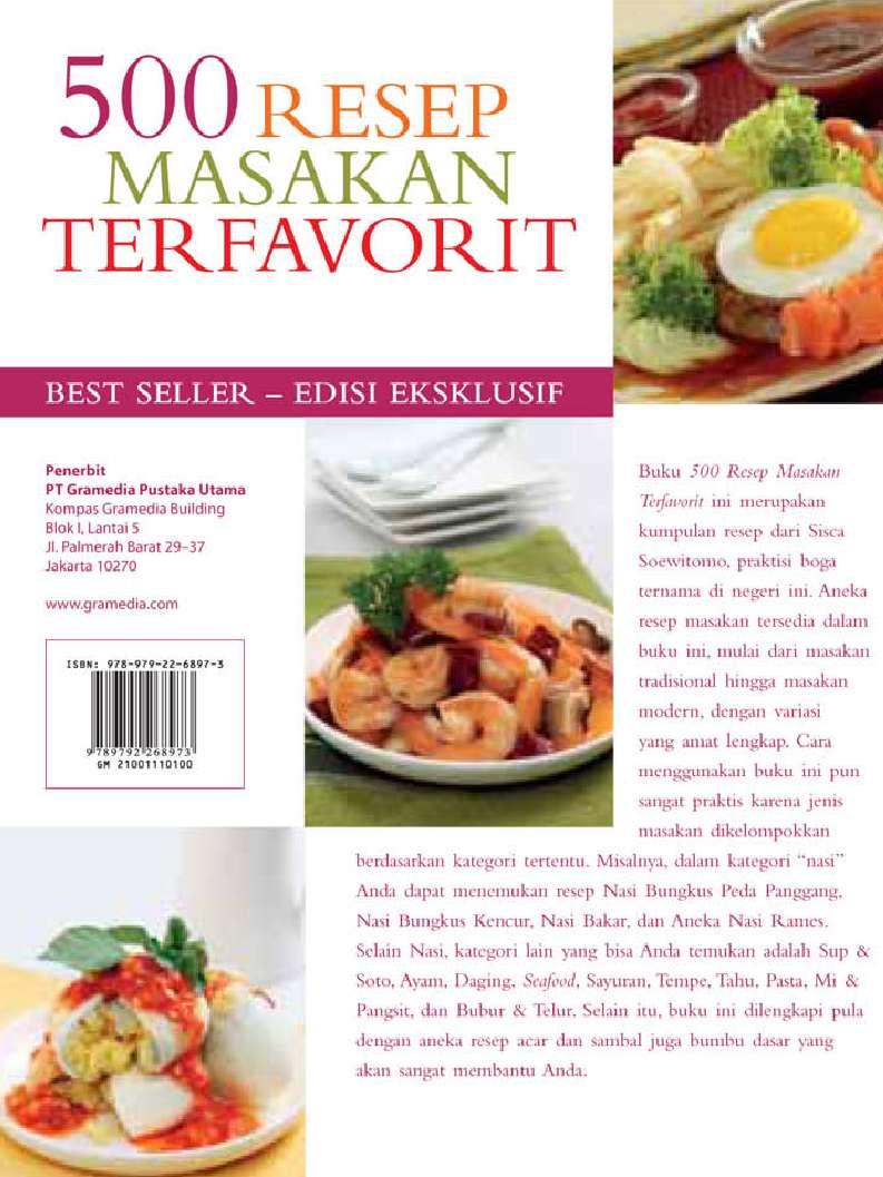 Jual Buku 500 Resep Masakan Terfavorit Hc Oleh Sisca Soewitomo