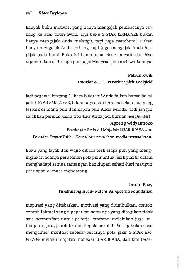 Five Star Employee Book By Timoteus Oyong Gramedia Digital