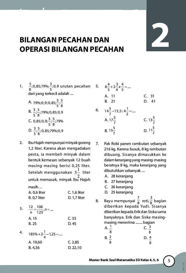 Jual Buku Master Bank Soal Matematika SD Kelas 4,5,6 oleh Tim Grasindo  Gramedia Digital Indonesia