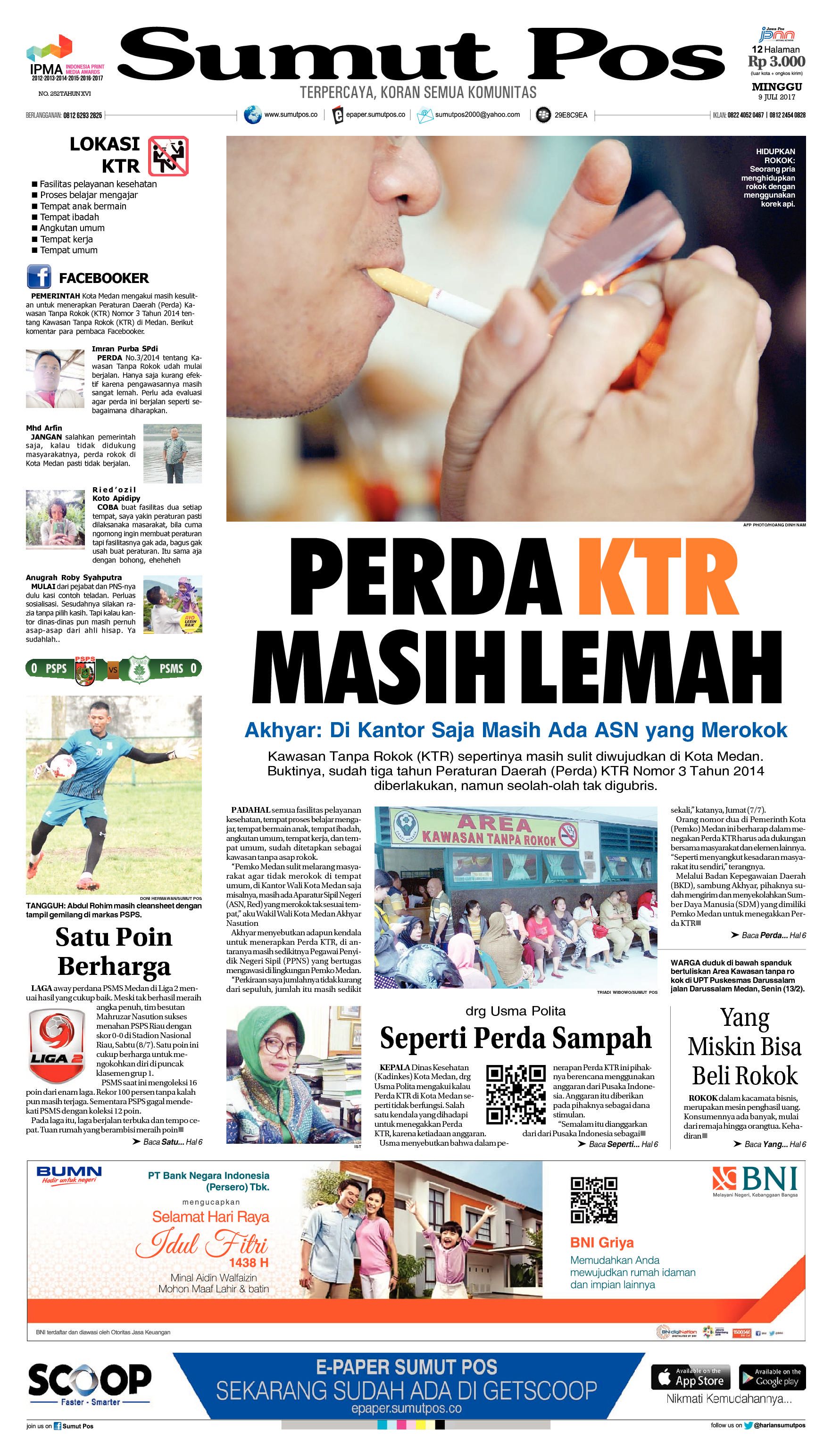 Sumut Pos Newspaper 09 July 2017 Gramedia Digital