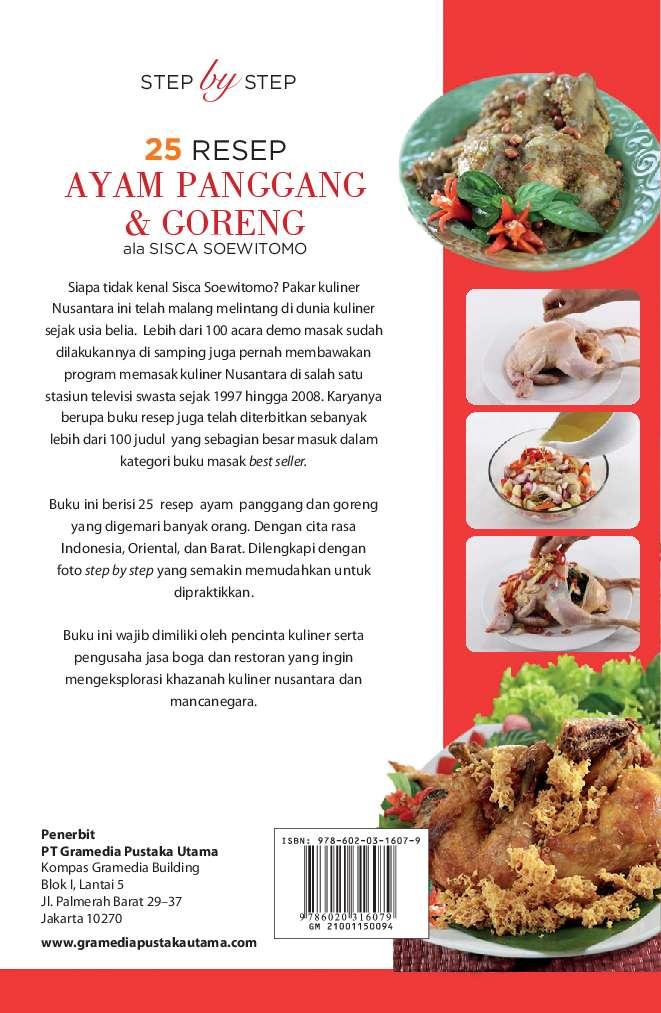 Jual Buku Step By Step 25 Resep Ayam Goreng Panggang Goreng Ala