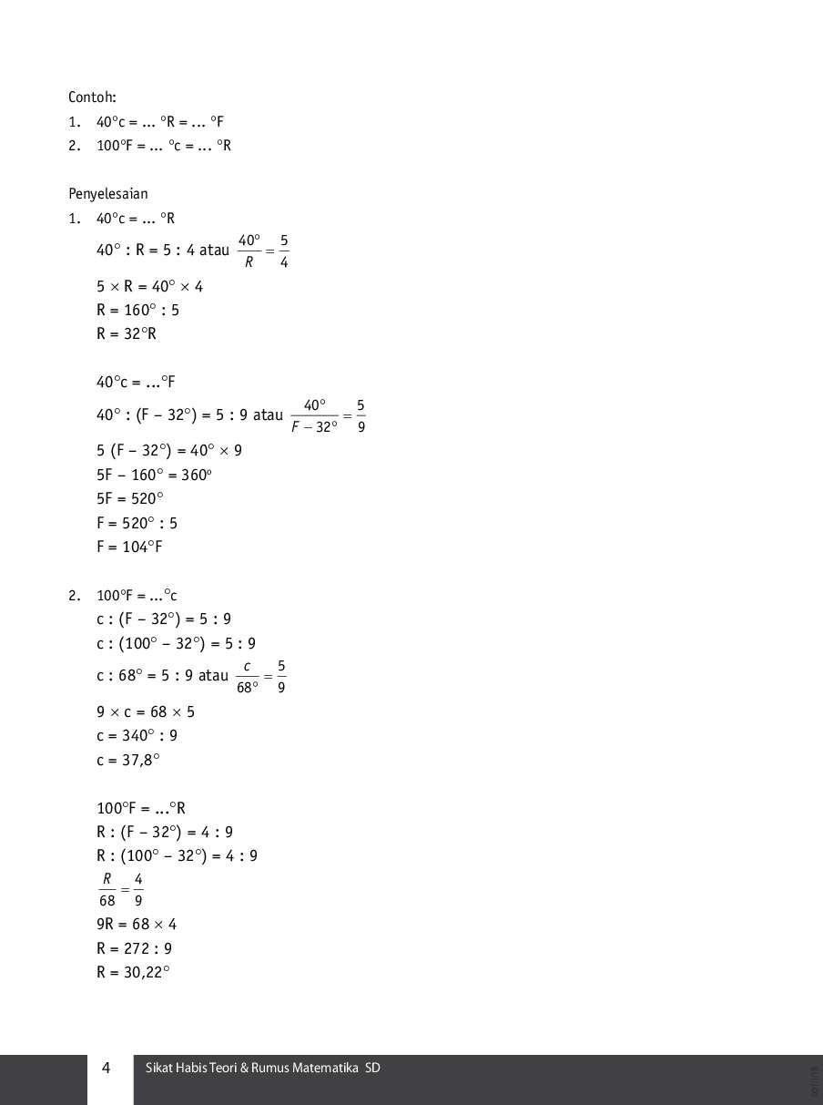 Rumus Matematika Sd Kelas 6