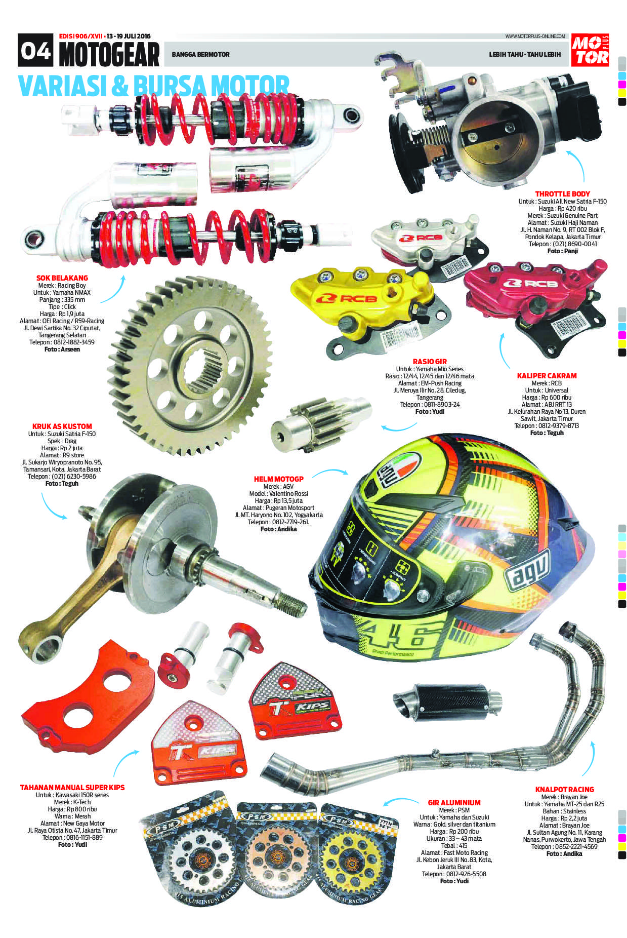 Motor Plus Magazine Ed 906 July 2016 Gramedia Digital Cover Headlamp Satria Fu Gen3 3