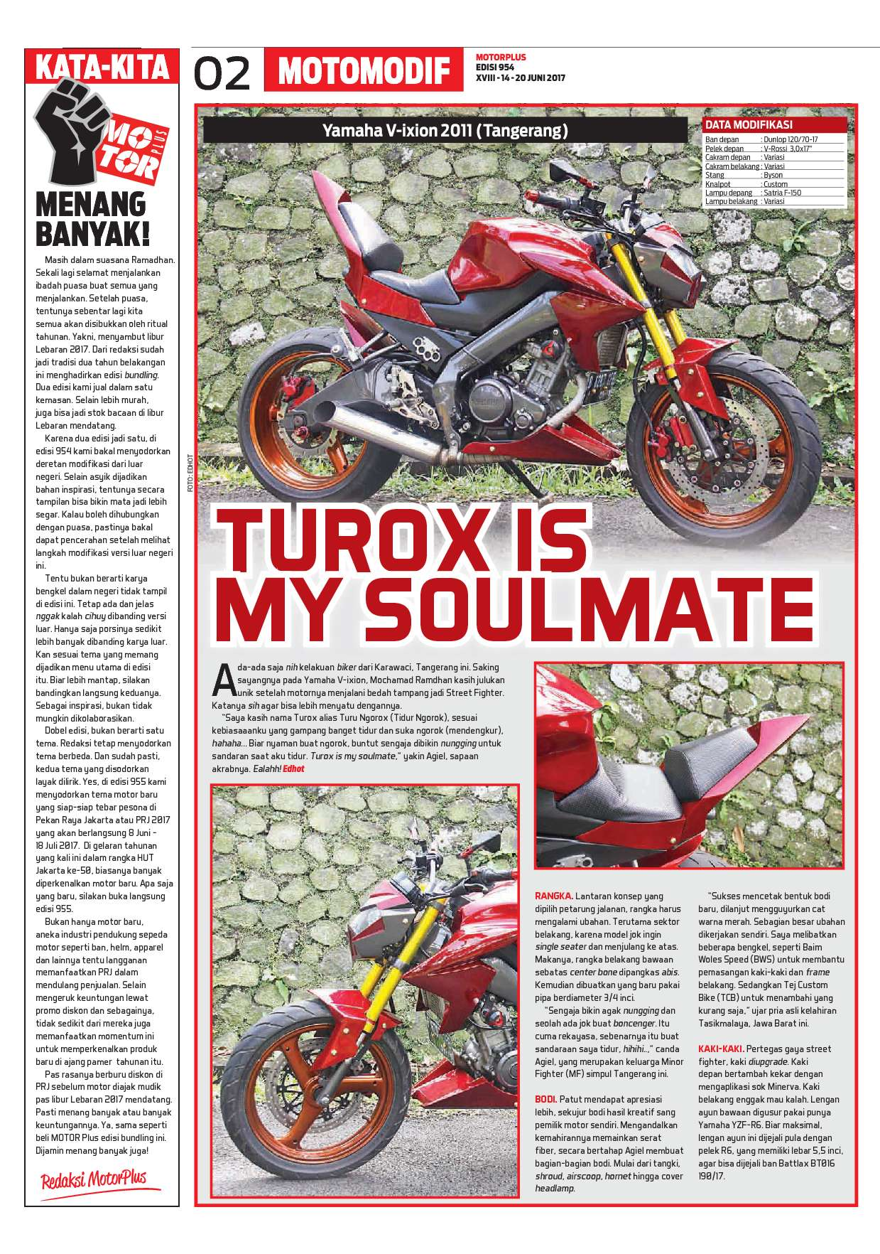 MOTOR PLUS Magazine ED 954 June 2017 Gramedia Digital