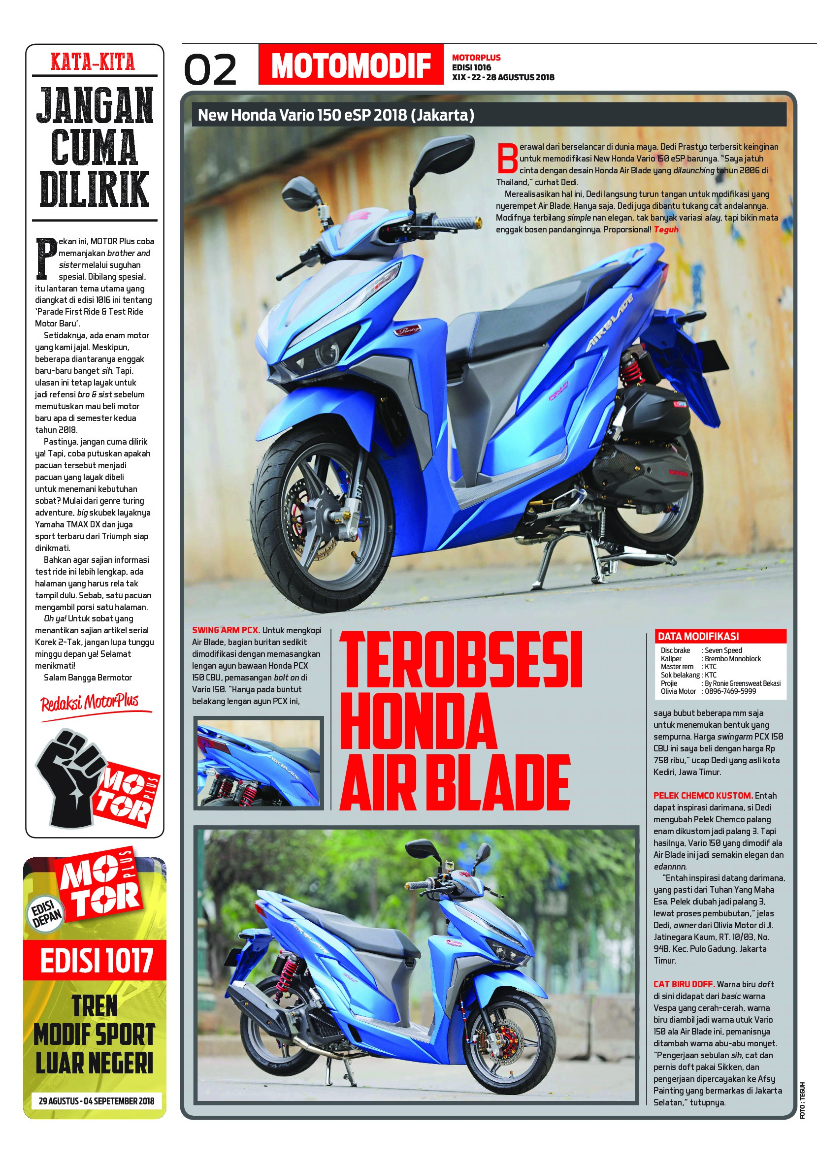 Motor Plus Magazine Ed 1016 August 2018 Gramedia Digital