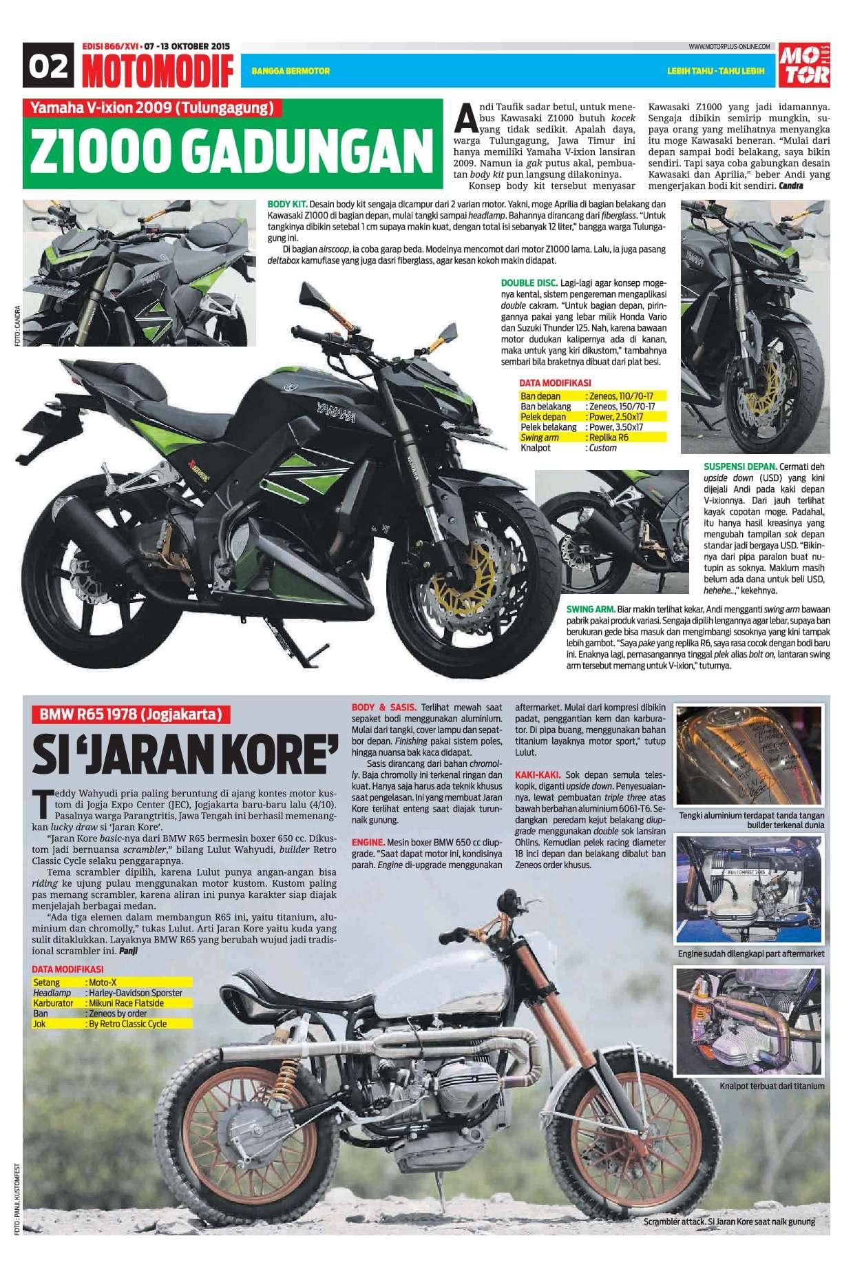 Motor Plus Magazine Ed 866 October 2015 Gramedia Digital Cover Tutup Knalpot Honda Vario 125 3