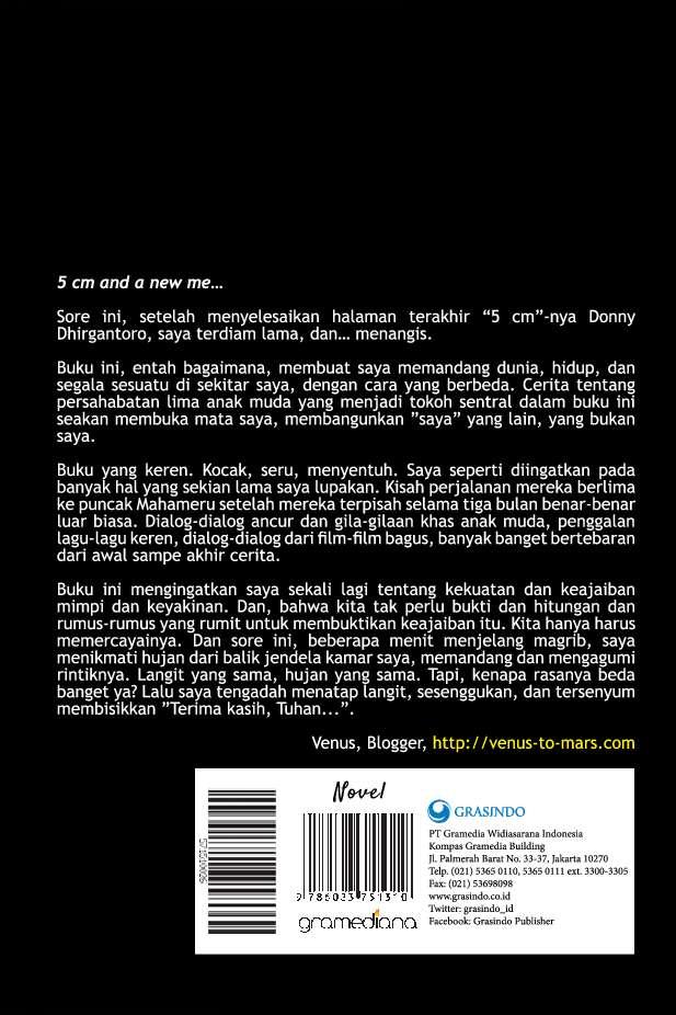 5 Cm Edisi Mega Best Seller Book By Donny Dhirgantoro Gramedia Digital