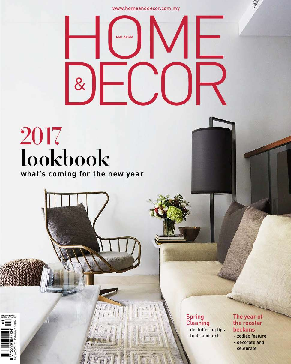 Home decor malaysia magazine january 2017 gramedia digital Home decor magazines