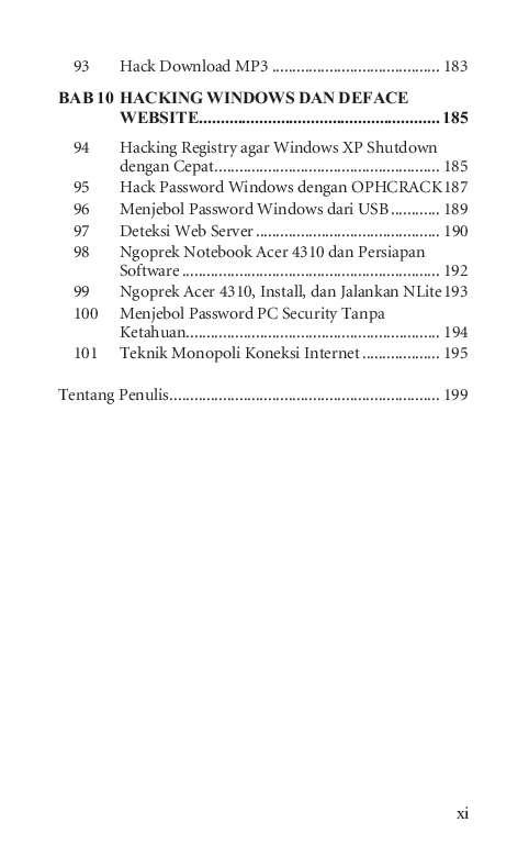 Jual Buku 101 Tip & Trik Hacking oleh ARETANET, M Syukrie