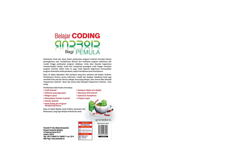 Jual Buku Belajar Coding Android Bagi Pemula Oleh Ir Yuniar Supardi Software Pemograman Handphone 7
