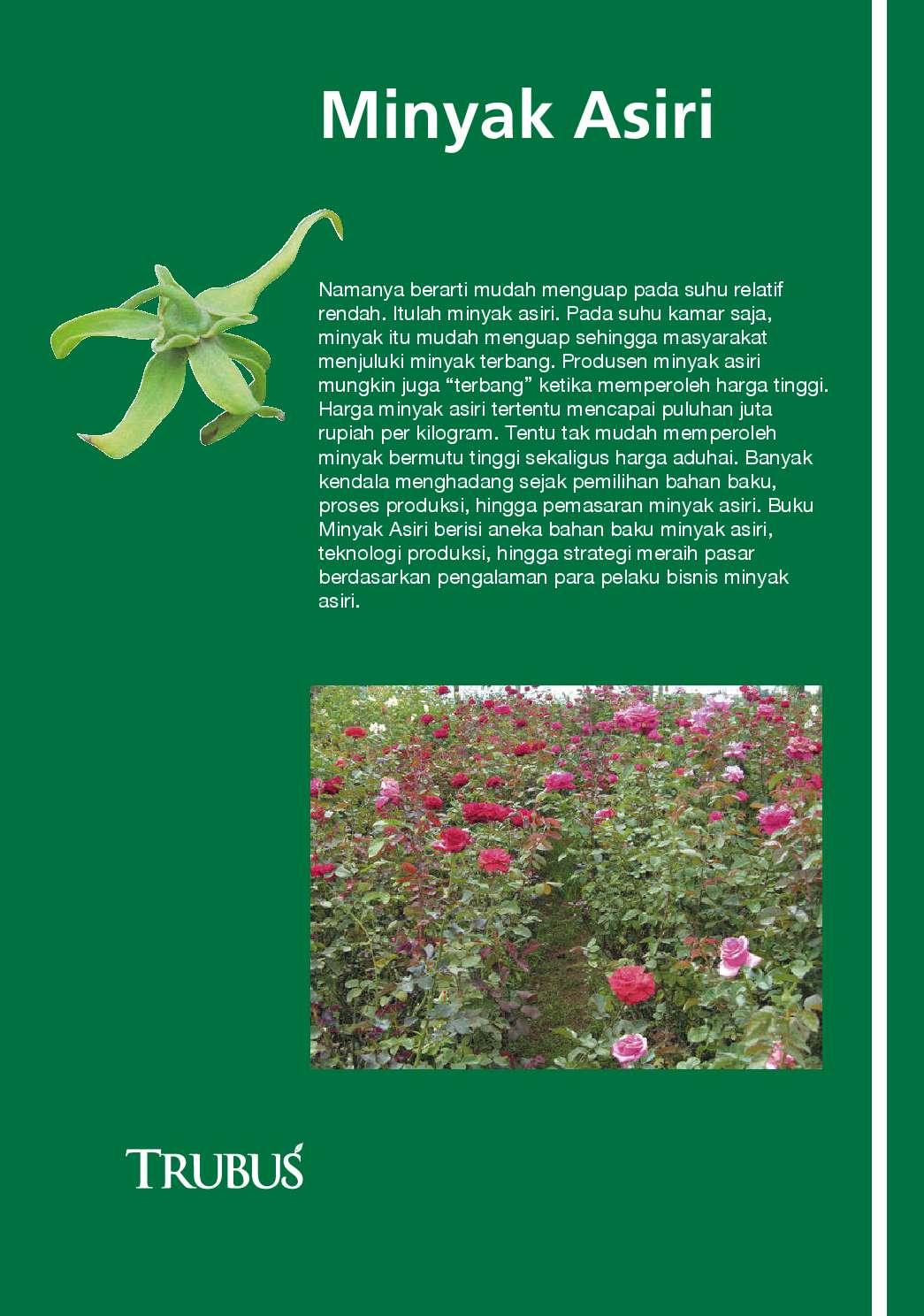 jual buku info kit vol 07 minyak asiri oleh redaksi