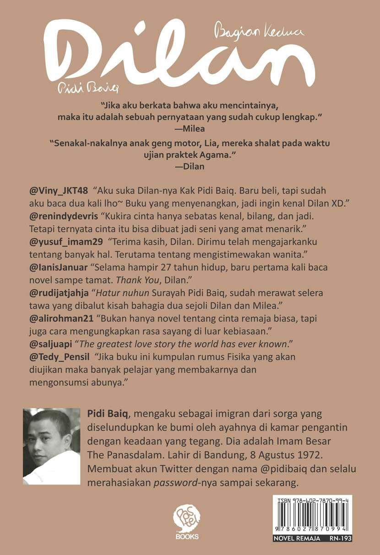 Ebook Dilan Pidi Baiq