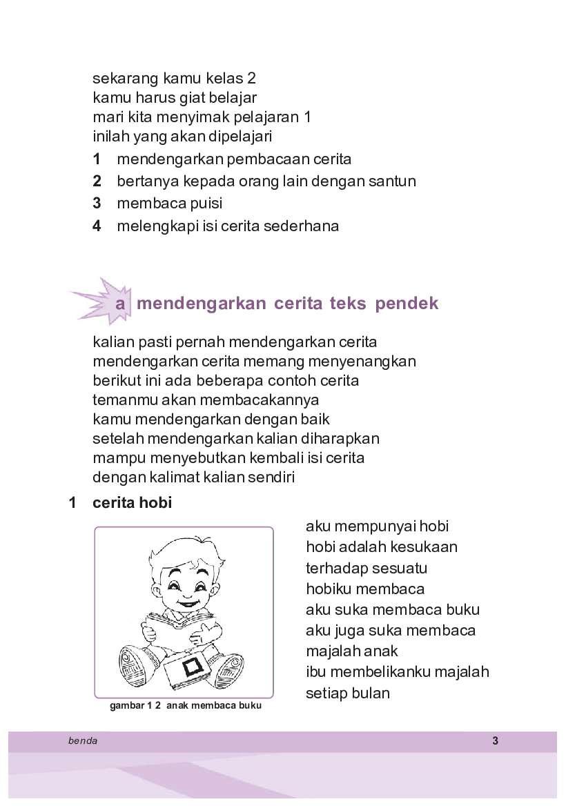 Sd Kelas 2 Bahasa Indonesia Book By Tri Puspitasari Samidi
