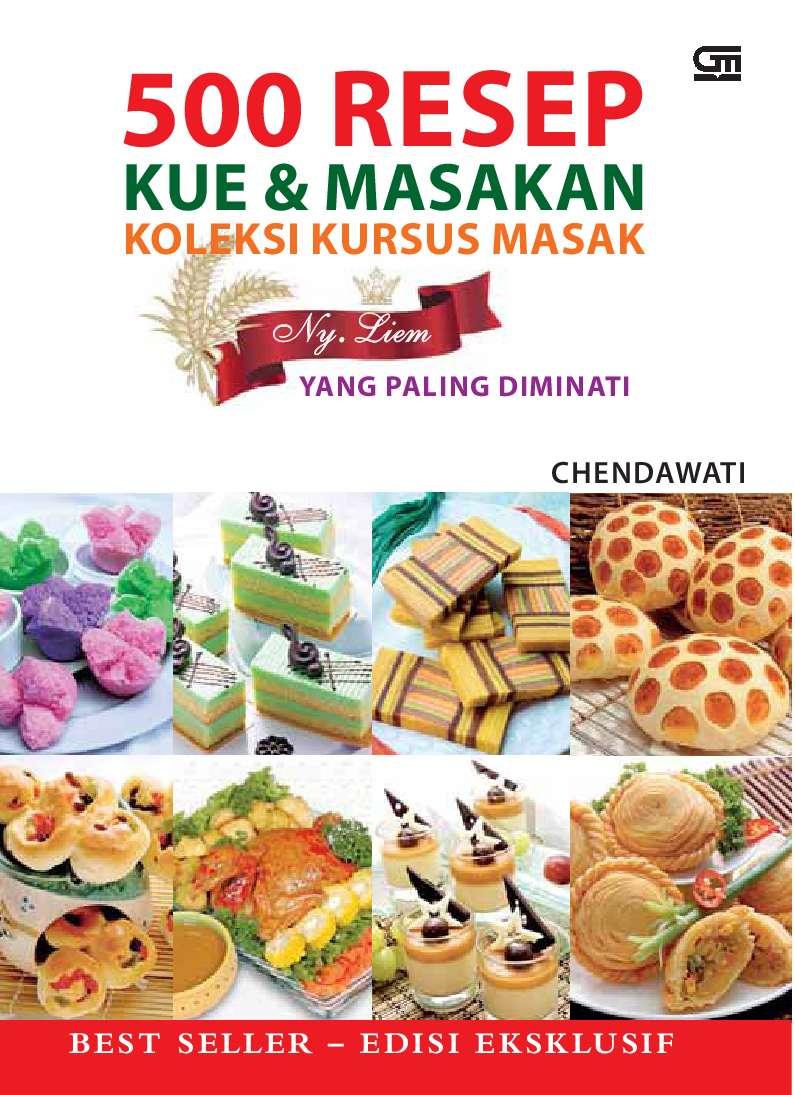 Jual Buku 500 Resep Kue Masakan Koleksi Kursus Masak Oleh