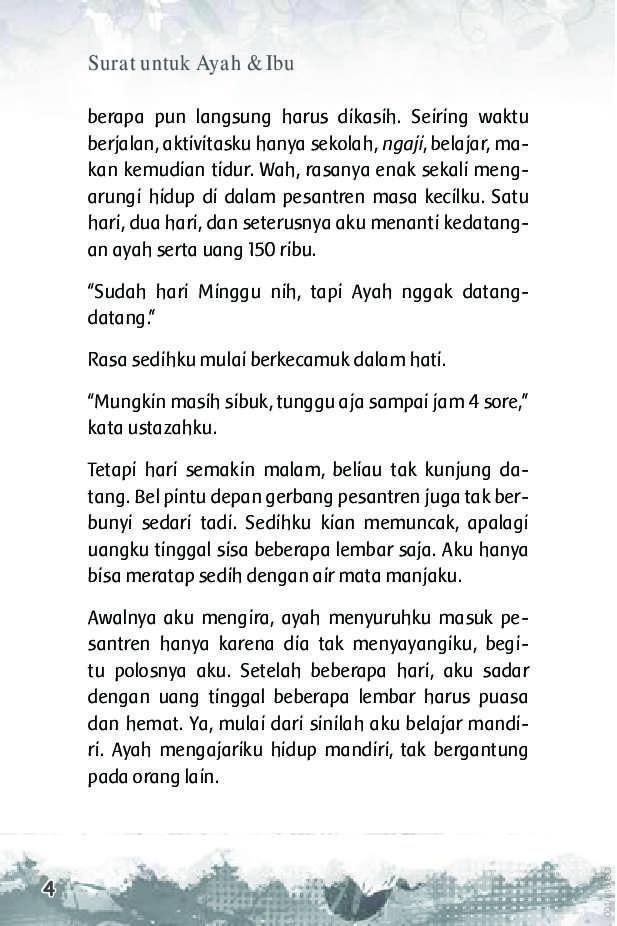 Jual Buku Surat Untuk Ayah Ibu Oleh Dini Nuzulia Rahmah Gramedia