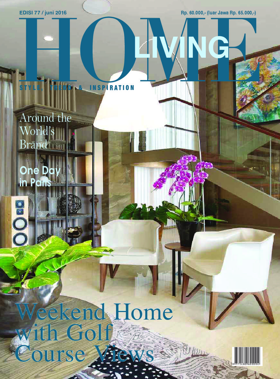 Home living magazine june 2016 gramedia digital for Home living magazines