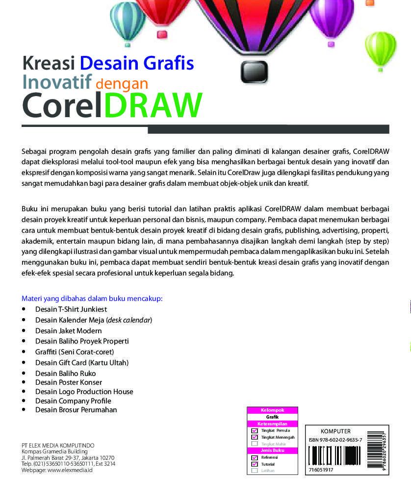 Kreasi Desain Grafis Inovatif Dengan Coreldraw Book By Suparno