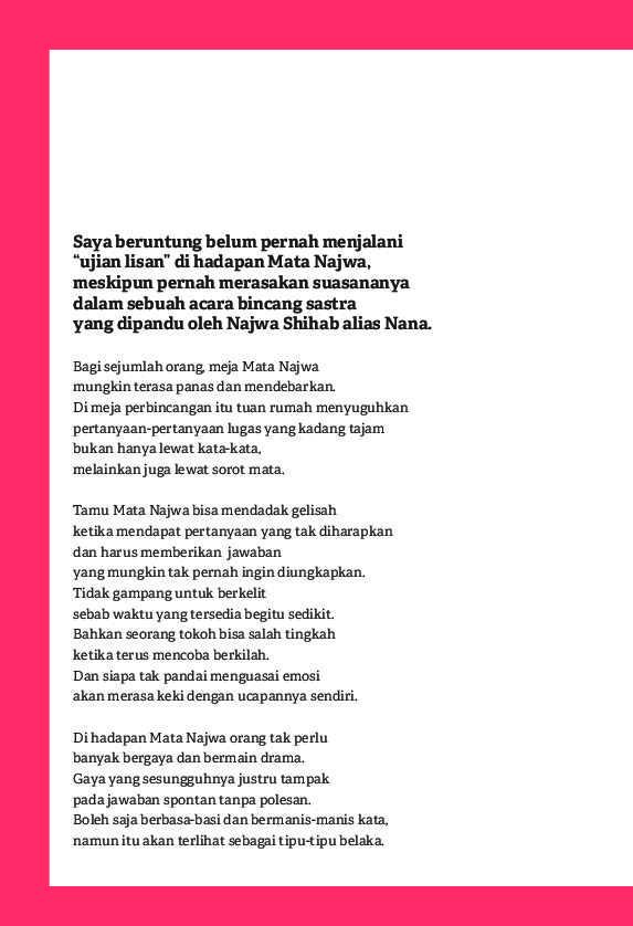 Jual Buku Catatan Najwa Oleh Najwa Shihab Gramedia Digital Indonesia