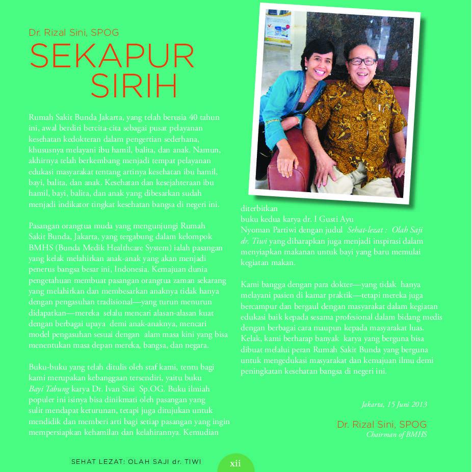 Jual Buku Sehat Lezat Olah Saji Dr Tiwi Panduan Asupan Bayi Tahun Pertama Oleh I Gusti Ayu Nyoman Partiwi Dr Tiwi Gramedia Digital Indonesia