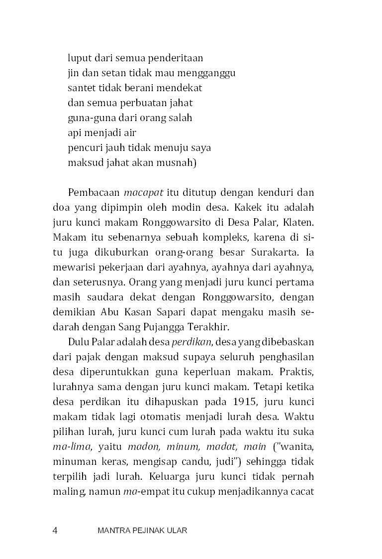 Jual Buku Mantra Pejinak Ular Oleh Kuntowijoyo Gramedia Digital