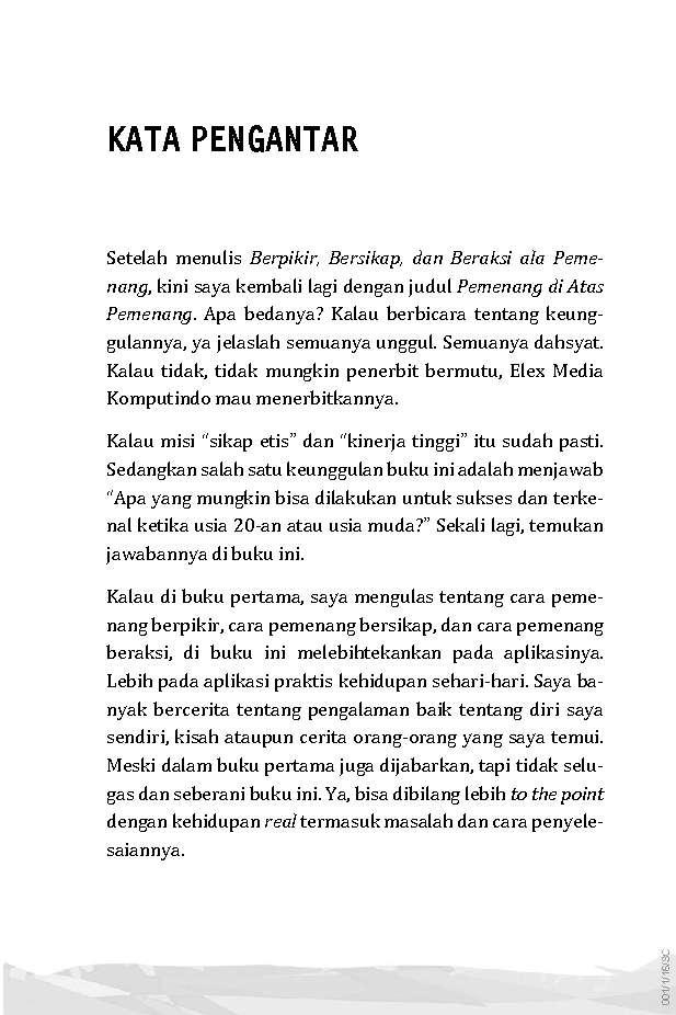 Jual Buku Pemenang Di Atas Pemenang Oleh Ahmad Saiful Islam