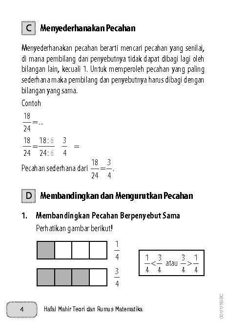 Rumus Matematika Sd Kelas 4