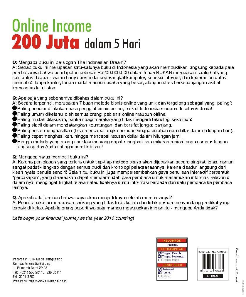 Jual buku online income juta dalam hari oleh thor