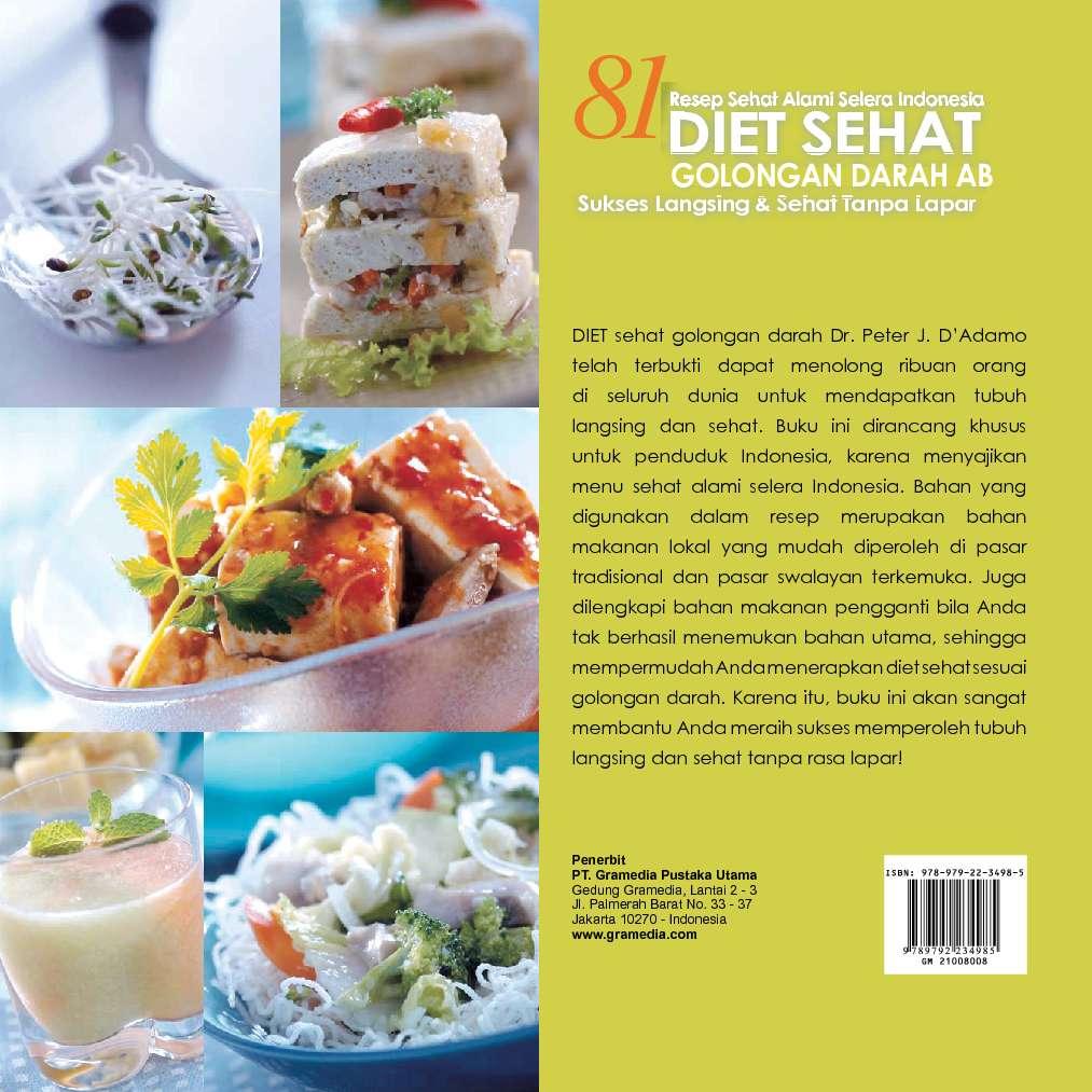 81 Diet Sehat Golongan Darah AB Book by Wied Harry