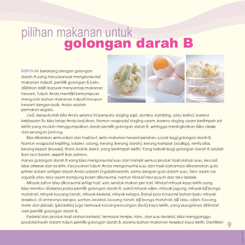 Jual Buku 81 Diet Sehat Golongan Darah B oleh Wied Harry