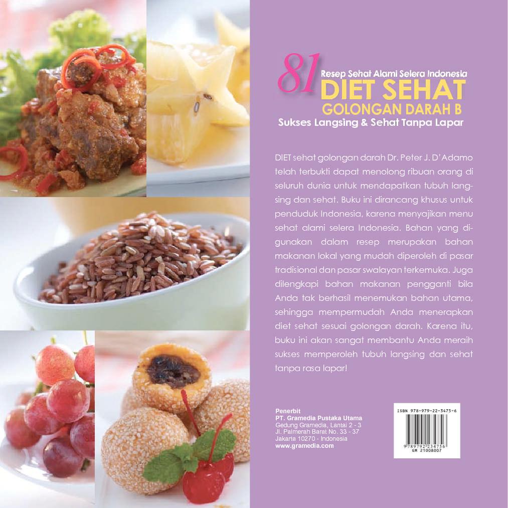 Jual Buku 81 Diet Sehat Golongan Darah B oleh Wied Harry ...