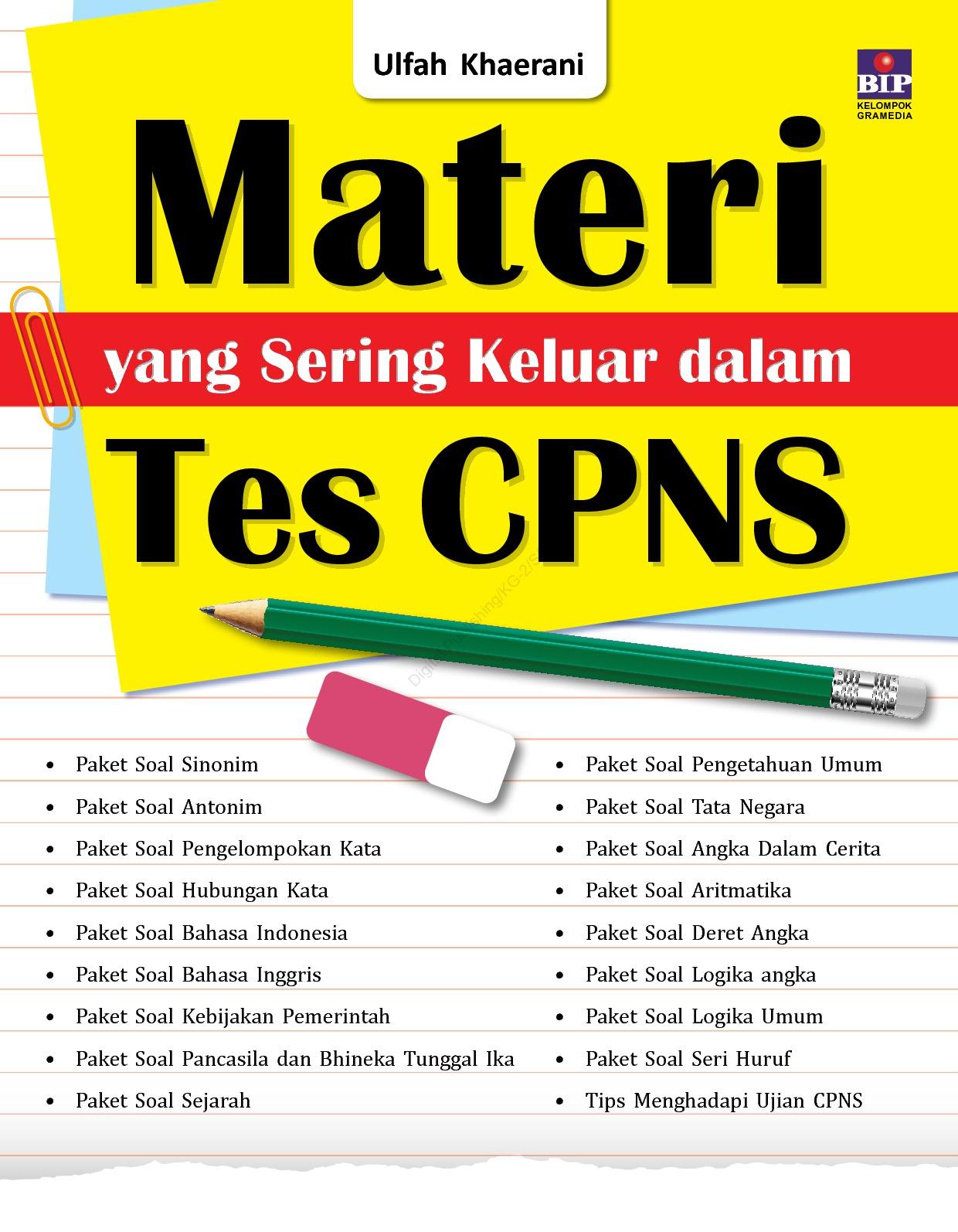 Jual Buku Materi Yang Sering Keluar Dalam Tes Cpns Oleh Ulfah Khaerani Gramedia Digital Indonesia