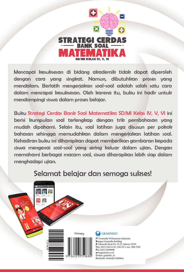 Jual Buku Strategi Cerdas Bank Soal Matematika SD Kelas IV, V, VI oleh Tim Smart Nusantara