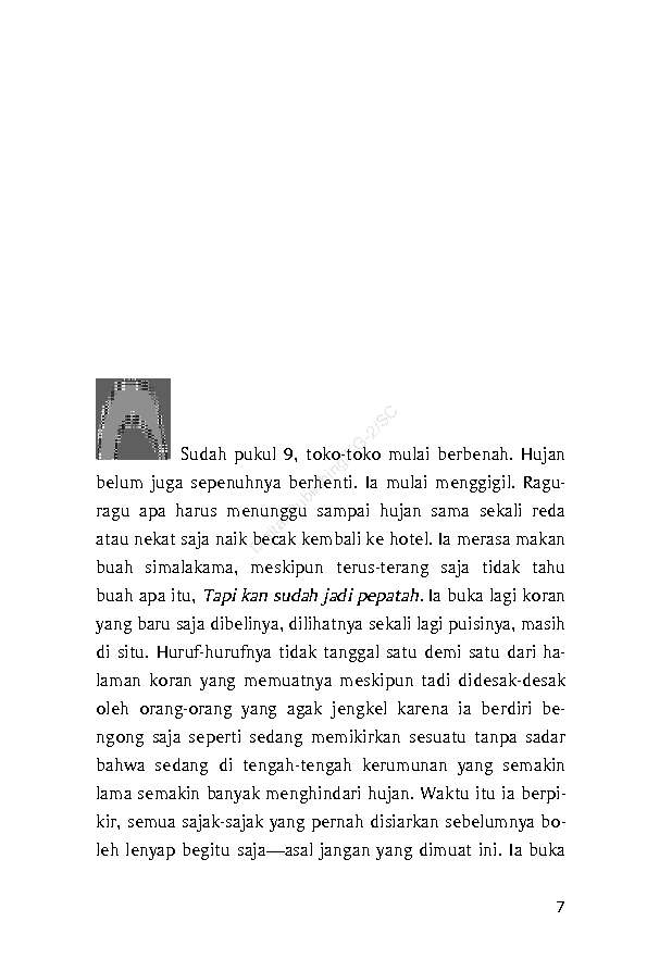 Ebook Novel Hujan Bulan Juni
