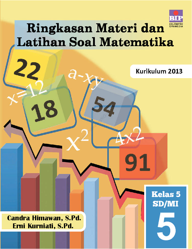 Ringkasan Materi Dan Latihan Soal Matematika Kelas 5 Sd Mi Book By Candra Himawan S Pd Erni