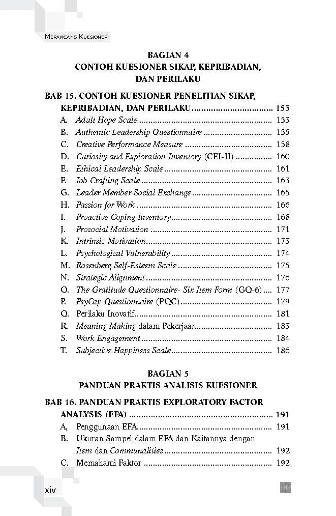 Jual Buku Merancang Kuesioner Konsep Dan Panduan Untuk Penelitian