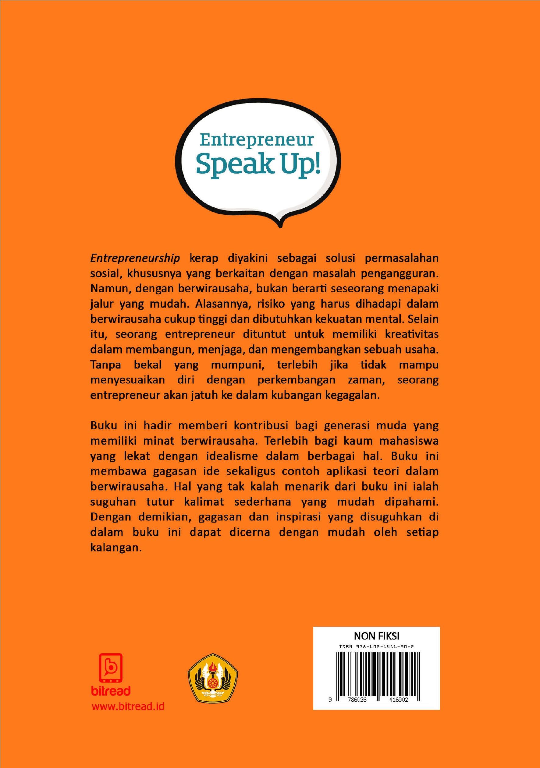 Entrepreneur Speak Up Book By Anas Bunyamin Gramedia Digital