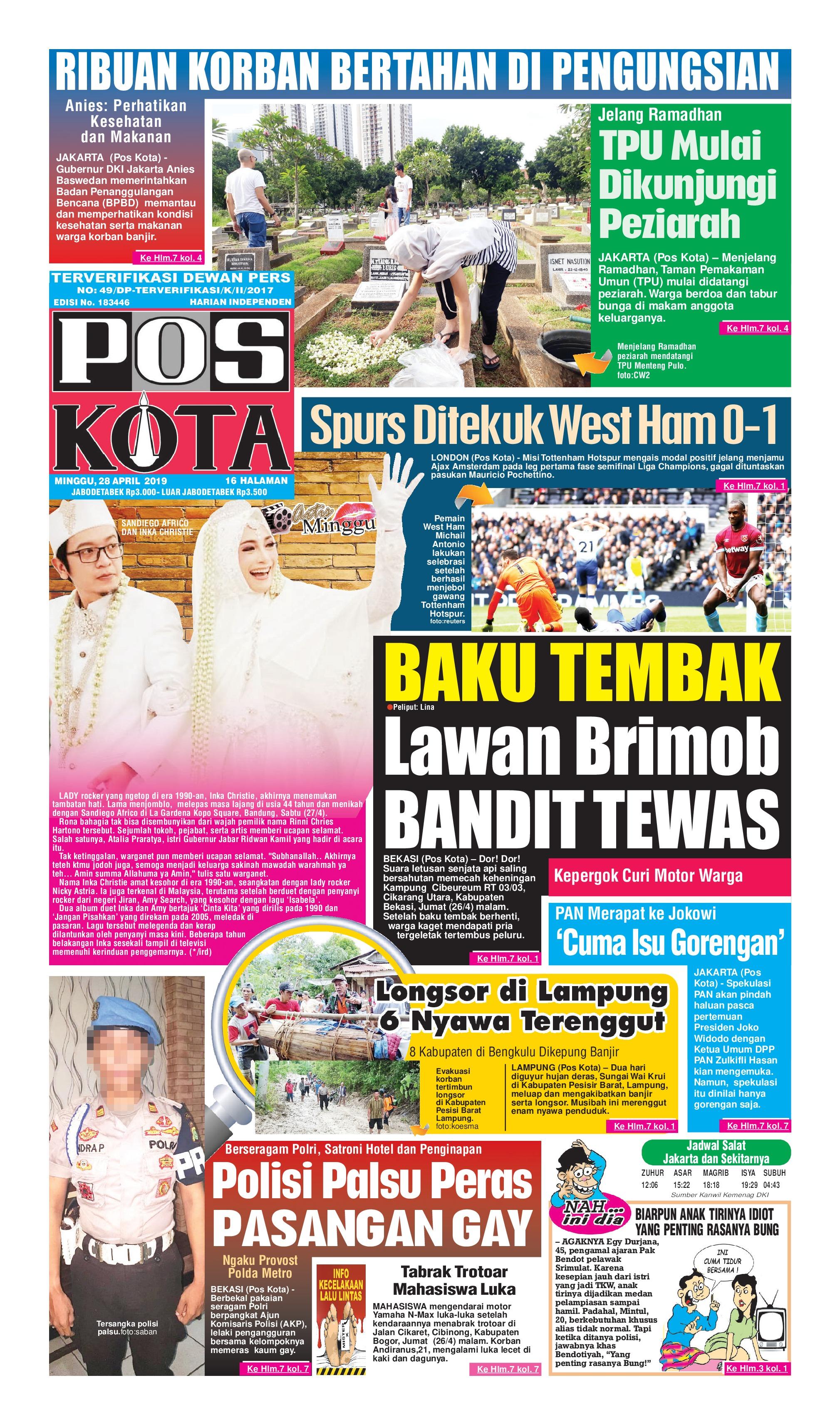 Pos Kota Newspaper 28 April 2019 - Gramedia Digital