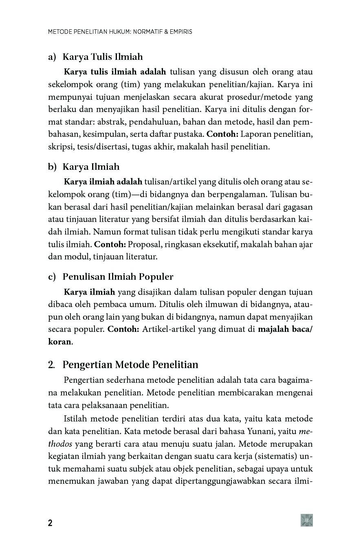 Metode Penelitian Hukum Normatif Dan Empiris Book By Dr Jonaedi