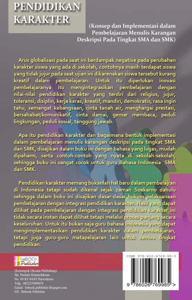 Jual Buku Pendidikan Karakter Konsep Dan Implementasi Dalam