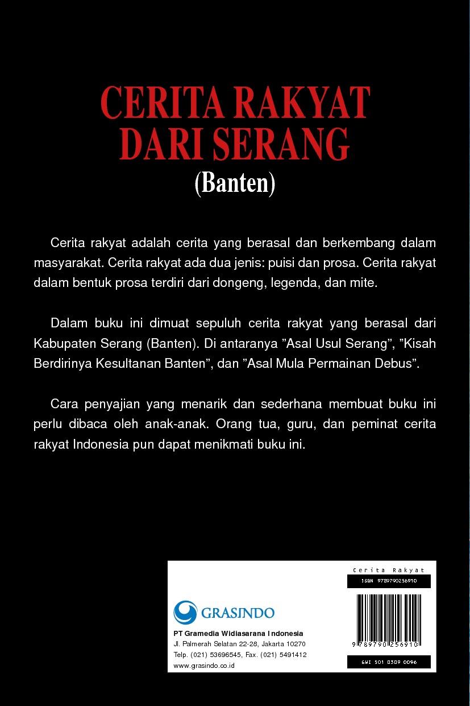 Cerita Rakyat Dari Serang Banten Book By Endang Firdaus Gramedia