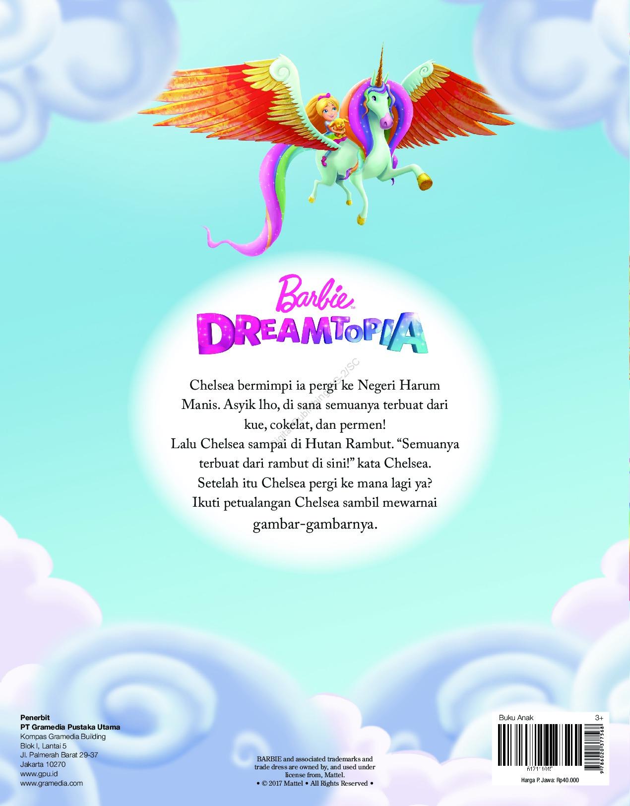 Jual Buku Barbie Dreamtopia Buku Cerita Mewarnai Dan Permainan