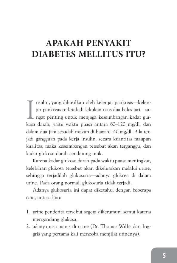 Ada Obat Baru, Diabetes Tak Perlu Insulin